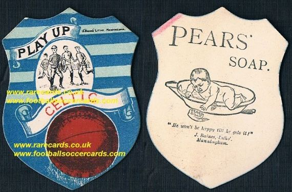 1890s' Glasgow Celtic Baines Pears Soap card